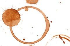 Macchie del caffè Immagine Stock Libera da Diritti