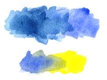 Macchie dell'acquerello immagini stock libere da diritti