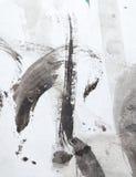 Macchie dell'inchiostro su Libro Bianco Fotografie Stock