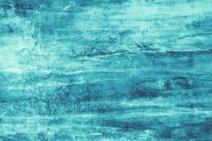 Macchie della pittura del turchese su tela Illustrazione astratta con le macchie del turchese su fondo molle Contesto artistico c illustrazione vettoriale