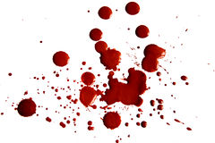 Macchie di sangue fotografia stock libera da diritti