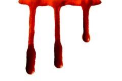 Macchie di sangue fotografia stock