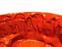 Macchie di una vernice rossa Fotografia Stock
