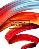 Macchie luminose della pittura di colore per il manifesto moderno Progettazione di Tranding Illustrazione di vettore illustrazione vettoriale
