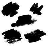 Macchie nere di vettore dell'inchiostro Fotografie Stock