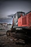 Macchina arancio della costruzione Fotografie Stock Libere da Diritti