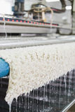 Macchina automatica per lavare dei tappeti nel processo Fotografie Stock