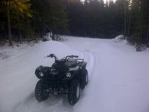 Macchina d'Alasca della neve fotografie stock libere da diritti