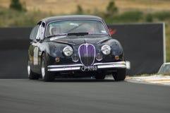 Macchina da corsa 1962 di MkII del giaguaro 3.8 Fotografia Stock