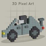 Macchina da corsa. arte del pixel 3D Immagini Stock Libere da Diritti