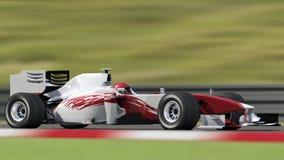 macchina da corsa con priorità bassa vaga Fotografie Stock Libere da Diritti