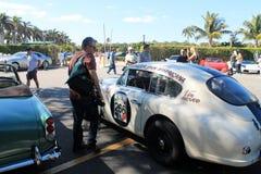 Macchina da corsa d'annata di Aston Martin Fotografia Stock Libera da Diritti