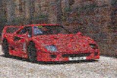 Macchina da corsa d'annata, mosaico Fotografie Stock