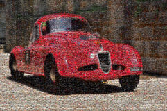 Macchina da corsa d'annata, mosaico Immagini Stock