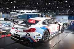 Macchina da corsa di BMW M6 GTLM su esposizione durante l'esposizione automatica della LA Fotografia Stock Libera da Diritti