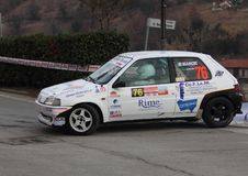 Macchina da corsa di Peugeot 106 Fotografie Stock