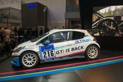 Macchina da corsa di Peugeot 208 Immagine Stock Libera da Diritti