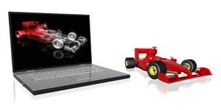 Macchina da corsa F1 Royalty Illustrazione gratis