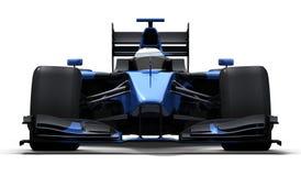 Macchina da corsa - il nero ed azzurro Fotografia Stock