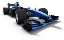 Macchina da corsa - il nero ed azzurro Immagini Stock