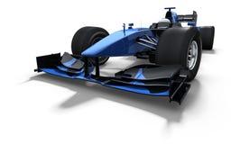 Macchina da corsa - il nero ed azzurro Fotografia Stock Libera da Diritti