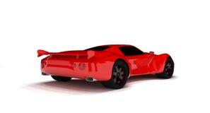 Macchina da corsa rossa isolata. Fotografia Stock