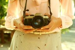 Macchina da presa del fotografo Fotografie Stock