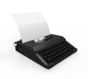 Macchina da scrivere con il foglio di carta Fotografia Stock Libera da Diritti