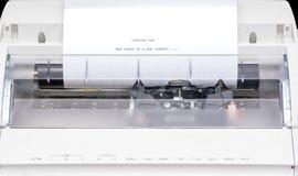 Macchina da scrivere con le parole scritte su Libro Bianco Fotografia Stock Libera da Diritti