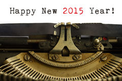 Macchina da scrivere del buon anno Fotografia Stock Libera da Diritti