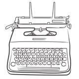 Macchina da scrivere dell'annata - bn Immagine Stock Libera da Diritti