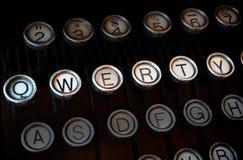 Macchina da scrivere di qwerty Fotografia Stock