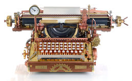 Macchina da scrivere di Steampunk. Immagini Stock