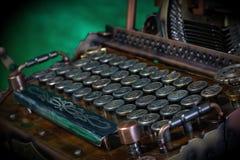 Macchina da scrivere di Steampunk Fotografie Stock