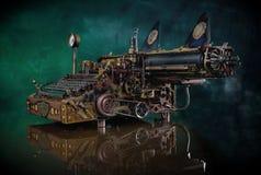 Macchina da scrivere di Steampunk Fotografia Stock Libera da Diritti