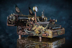 Macchina da scrivere di Steampunk Fotografia Stock