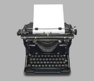 Macchina da scrivere e documento dell'annata, isolati Fotografie Stock Libere da Diritti
