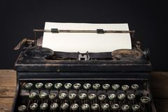 Macchina da scrivere meccanica d'annata Fotografia Stock
