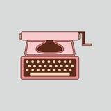 Macchina da scrivere rosa Retro attrezzatura isolata per gli scrittori ed i giornalisti Fotografia Stock