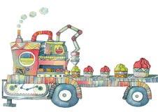 Macchina de Illustrazione por o gelato Imagem de Stock