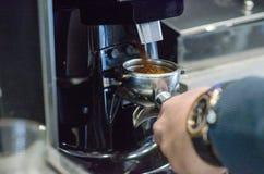 Macchina del caffè del capogruppo Fotografie Stock Libere da Diritti