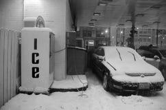 Macchina del ghiaccio di inverno Immagini Stock