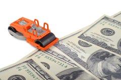 Macchina del lastricatore dei soldi Fotografie Stock Libere da Diritti