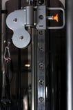Macchina del primo piano con i numeri salenti e la maniglia Fotografie Stock