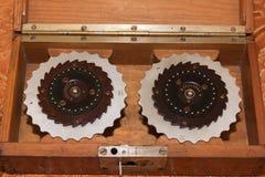 Macchina del rotore, Enigma, macchina di cifra dalla seconda guerra mondiale immagine stock libera da diritti