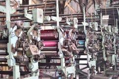 Macchina del torchio tipografico Fotografie Stock