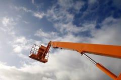 Macchina dell'elevatore idraulico fotografia stock libera da diritti