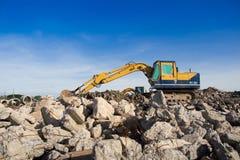 Macchina dell'escavatore Immagine Stock Libera da Diritti