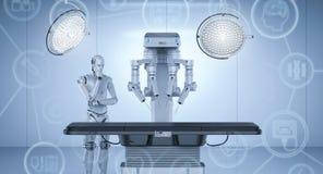 Macchina della chirurgia del robot illustrazione di stock