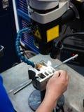 Macchina della saldatura a laser Fotografia Stock Libera da Diritti